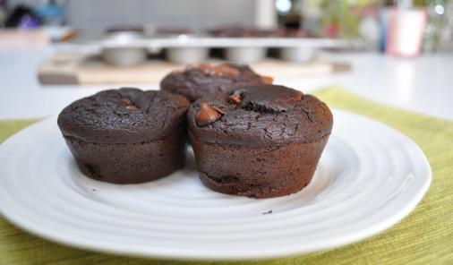 Chocolate Lentil Muffins