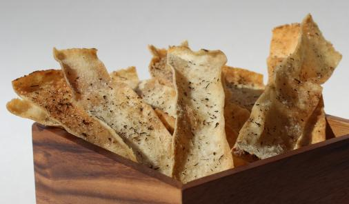 homemade pita crisps are an easy to make snack that uses up leftover pita bread
