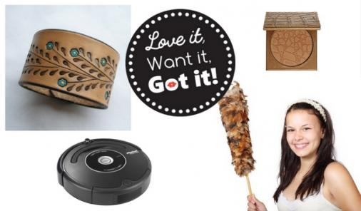 On this week's Love It Want It Got It, we're checking out the Roomba, artisan cuffs, our go-to bronzer, and something you might feel too guilty to afford.