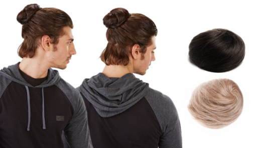 Clip in Man Bun Hair Accessories | YummyMummyClub.ca