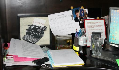Messy Desk Before