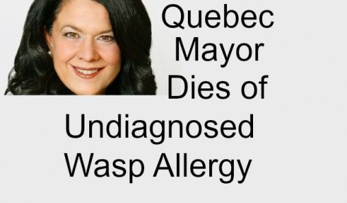 Lucie Roussel, a Quebec mayor, died of multiple wasp stings and an undiagnosed allergy.