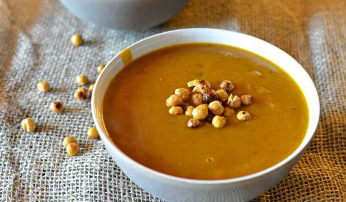 easy_roasted_butternut_squash_soup_with_crispy_chickpeas