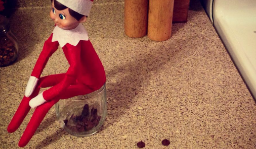 Elf On The Shelf, Buddy, Christmas traditions, elf, shelf, creepy, spying on kids, elf on the shelf, buddy the elf, creativity, parenting, christmas, jen warman, megan daley, should I get an Elf on the Shelf
