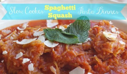 Slow Cooker Spaghetti Squash Pasta Dinner