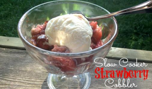 Slow Cooker Strawberry Cobbler Recipe