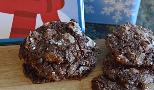 mint chocolate almond cookies
