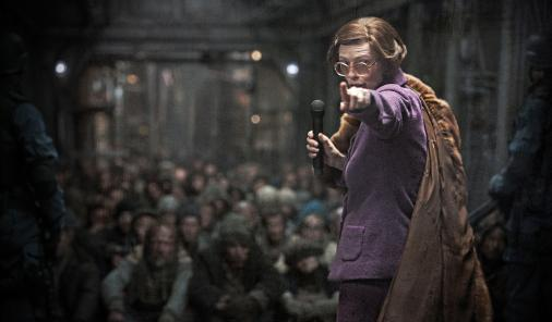 Tilda Swinton as the Minister of the Train
