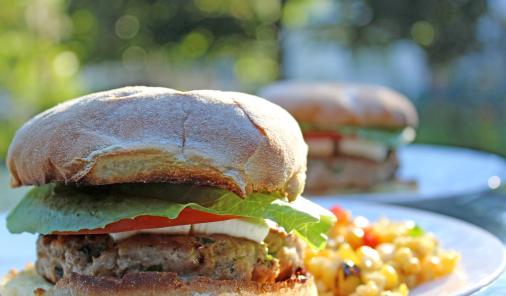 Lean ground turkey and finely chopped kale make for a burger that's delicious and healthy