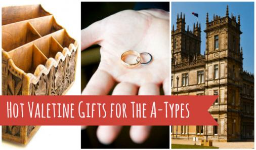 Organizer, rings, and mansion as Valentine gifts