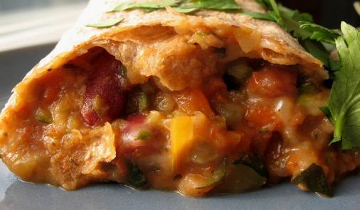 Veggie Bean Burritos Recipe