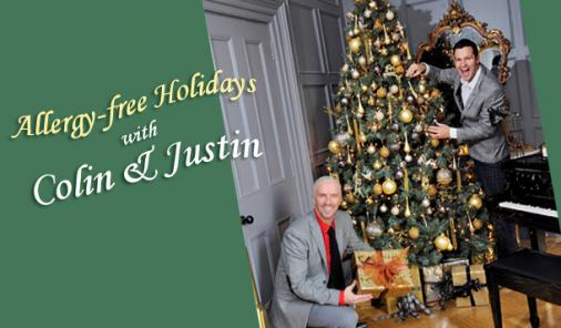 allergy free holidays with colin and justin