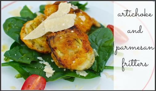 artichoke and parmesan fritters