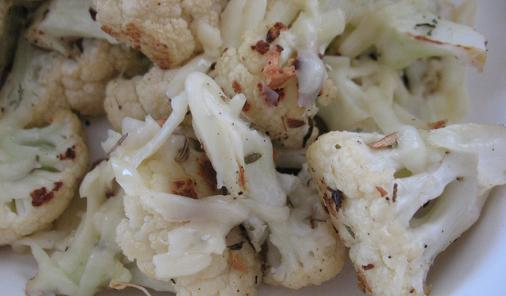 Balsamic Roasted Cauliflower with Parmesan Cheese Recipe
