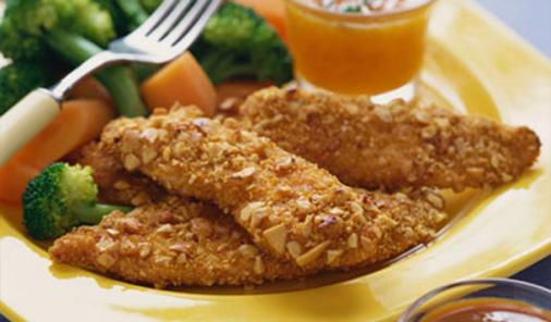 Tortilla Crusted Chicken Fingers Recipe