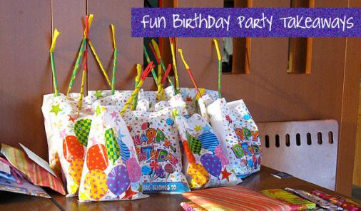 birthday party loot bags