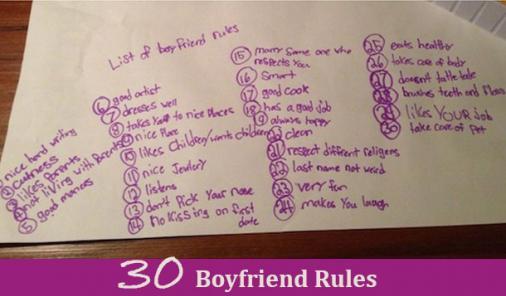 boyfriend rules