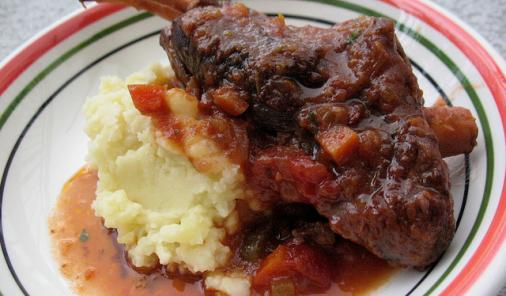 Slow Cooker Braised Lamb Shanks Recipe