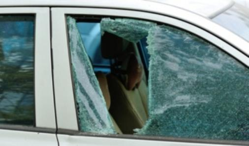 Broken Window in car to save child
