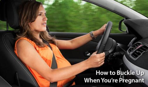 how to buckle up when pregnant