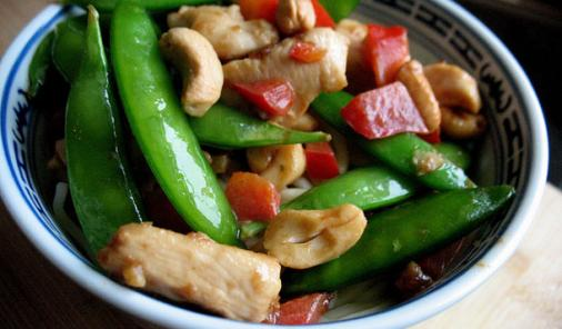 Chicken, Cashew, Sugar Pea Stir-Fry Recipe