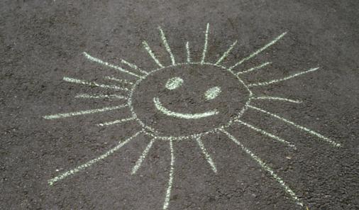 chalk sun