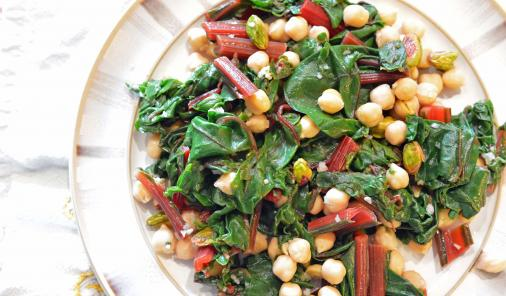 Swiss chard with chickpeas