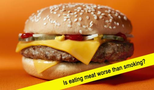 is eating meat worse than smoking