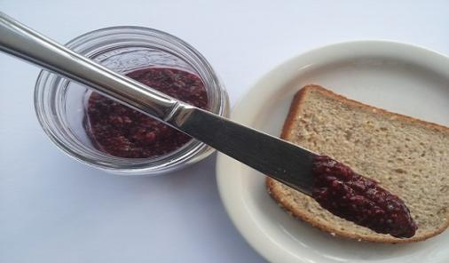 This Bumbleberry Chia Jam has no refined sugar or pectin in it. It's the easiest treat you'll ever make! | YMCFood | YummyMummyClub.ca