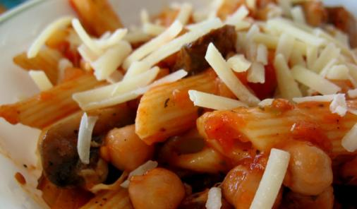 Penne with Tomato Chickpea Sauce Recipe