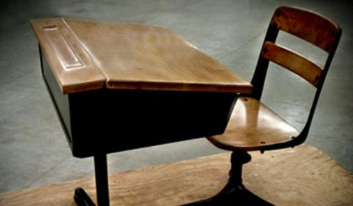 old classroom chair