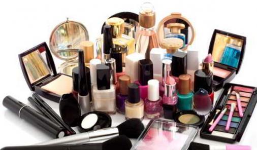 pile of cosmetics