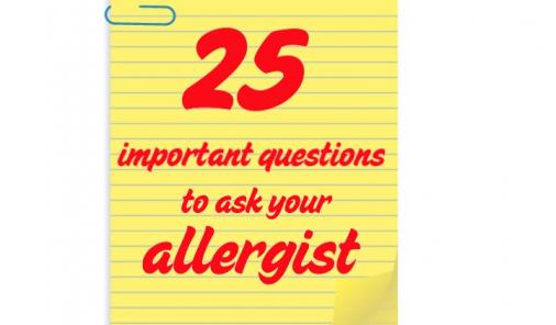 25 Important Questions to Ask Your Allergist
