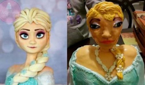 Elsa Cake Fail