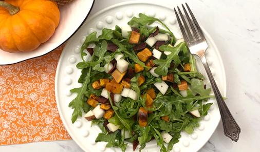 Fall Arugula and Apple Salad