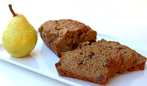 Spiced Pear Loaf Recipe Made with Lantic Rogers Sugar + Stevia Blend Pinnable Image | YMCRecipes | YMCSweetStuff | YMCShopping | YummyMummyClub.ca