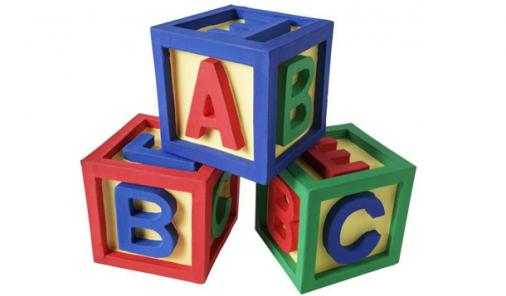 building blocks at daycare