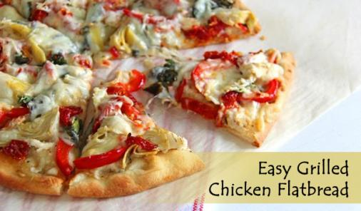 Grilled Chicken Flatbread Recipe