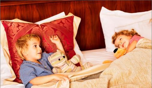 children at hotel