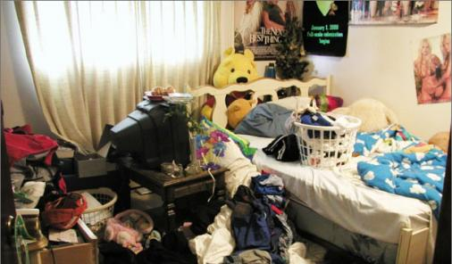 messy room, messy house
