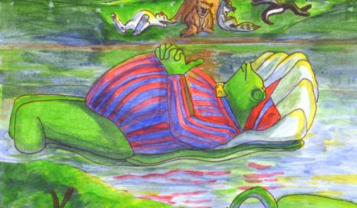 Thomas and the Lily Pond