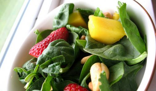Fruity Spinach Cashew Salad Recipe