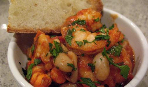 Smoked Paprika Garlic Shrimp and Beans Recipe