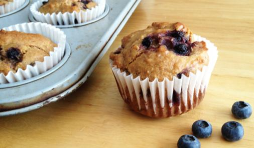 Vegan, Gluten-Free Blueberry-Coconut Muffins Recipe