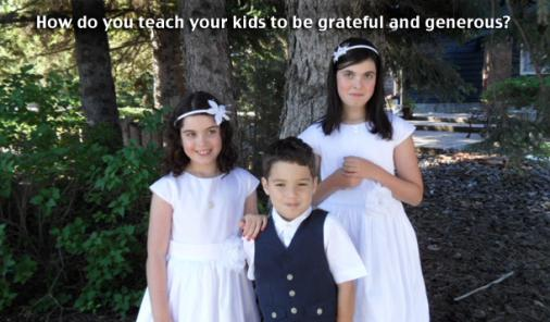 A Unique Way to Teach Kids About Gratitude and Giving Back