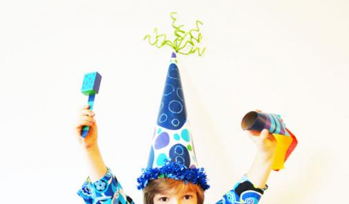 Make your own shakers, party blowers and fancy hats for New Year's Eve