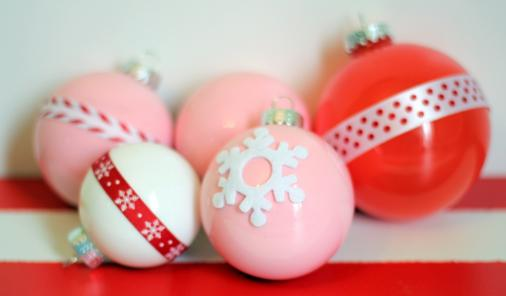 With a little paint and some stickers, you can make your own DIY ornaments to suit your a Christmas decor scheme of your choice! They're easy and frugal. | Holidays | Crafts | YummyMummyClub.ca