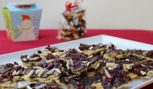 Delicious salted honey bark makes a sweet gift for anyone on your list