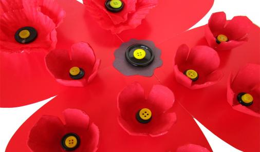 Make Poppies with your kids for Remembrance Day