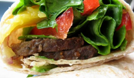 Roast Beef and Mango Wrap Recipe